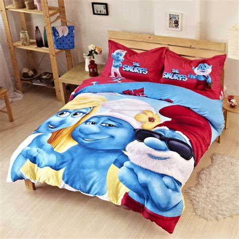 boys bedding set boys smurfs bedding set ebeddingsets