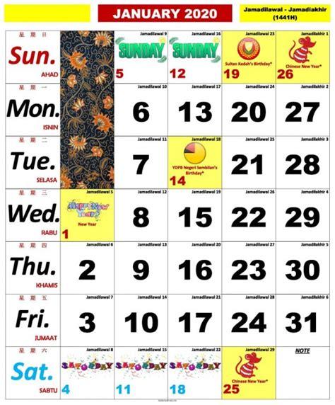 kalendar kuda  malaysia