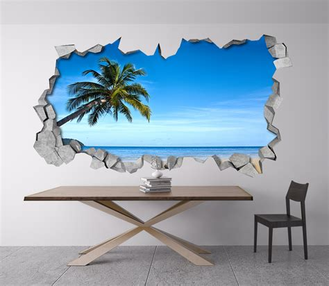 Kitchen Quotes Wall Stickers tropical beach 3d wall moonwallstickers com