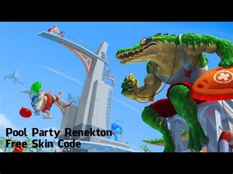 Lol Free Codes Giveaway - league of legends party pool renekton free skin code giveaway youtube