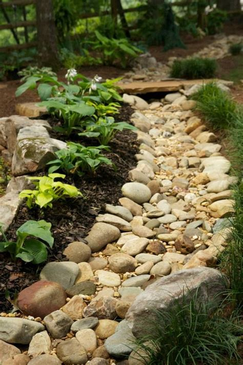 dry creek bed landscaping diy bridge over creek woodworking projects plans