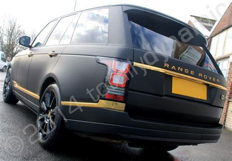 matte gold range rover range rover vogue vinyl wrapped in matt black with mirror
