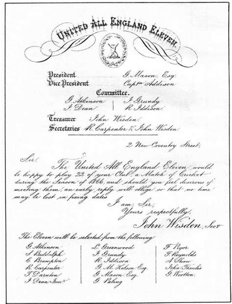Invitation Letter Format For Cricket Match Ashby Hastings Cricket Club History
