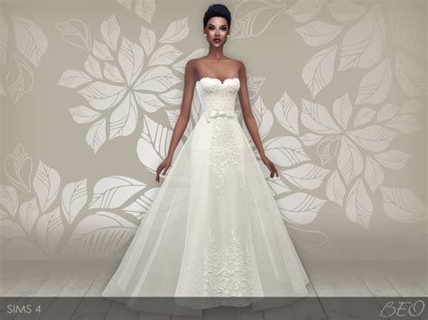 Wedding Dress The Sims 4 my sims 4 wedding dress 28 v 1 2 by beo