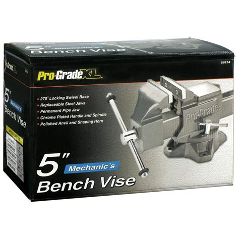 mechanics bench vise pro grade 59114 5 in mechanic s bench vise at sutherlands