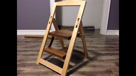 folding step stool youtube