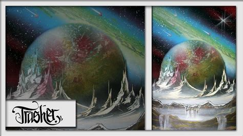 spray paint landscape by trasher spray paint space by trasher