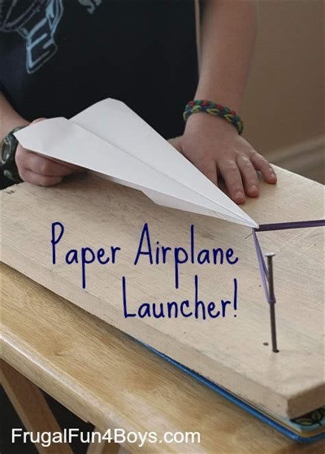 How To Make A Paper Launcher - paper airplane launcher frugal for boys and