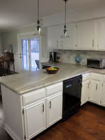 Easy Diy Kitchen Cabinets Remodelaholic More Diy Countertop Reviews