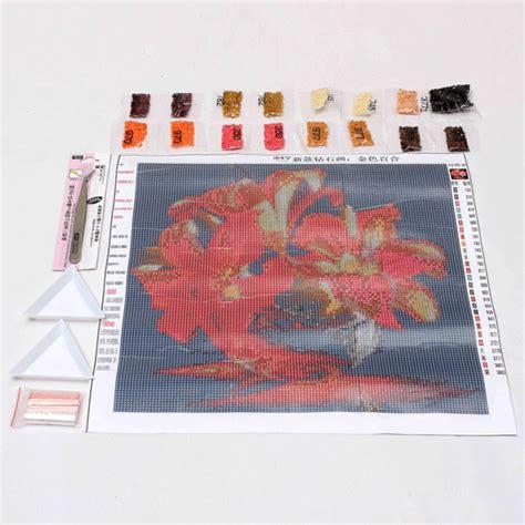 New 8498 Set 3 3d gold diy rhinestone painting cross stitch kits