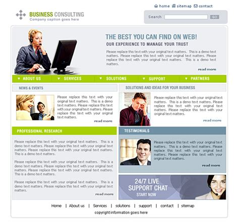 Business Consulting Website Template 0444 Clean Corporate Website Templates Dreamtemplate Business Consulting Website Templates