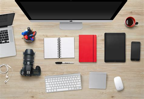 designer desks designer desk essentials psd mockups eight layers