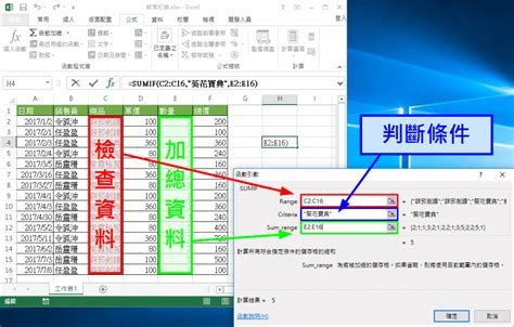tutorial excel sumif excel sumif 函數用法教學 判斷條件 計算總和 g t wang