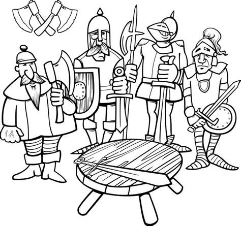 i 12 cavalieri della tavola rotonda carta da parati cavalieri della pagina da colorare tavola
