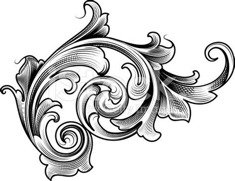 single victori victorian filigree drawing
