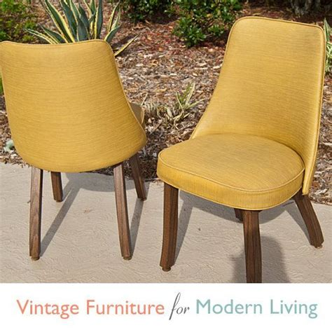 Retro Dining Chairs Cheap Pair Vintage Retro Harvest Gold Vinyl Dining Chairs By By Mitzys 49 99 Office Lounge
