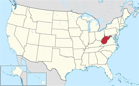 map united states showing west virginia tourist map of western usa