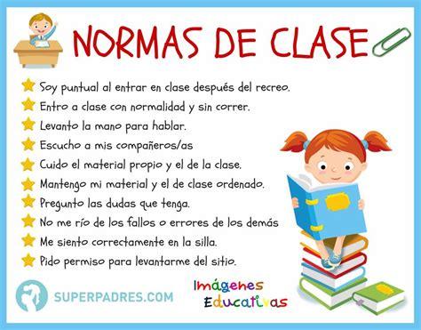 imagenes educativas normas normas de la clase la clase imagenes educativas y