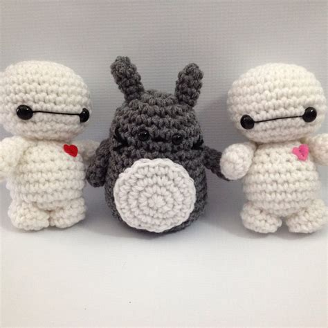 amigurumi pattern baymax baby baymax and totoro amigurumi by stitchedlovecrochet on