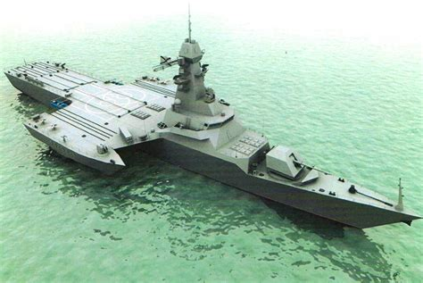 russian navy to test a new trimaran vessel concept similar - Trimaran Warship Design