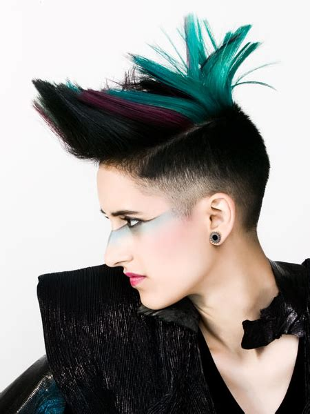 can women with a mahawk hair xut put weave in hair pictures new short punk hairstyles for women faded