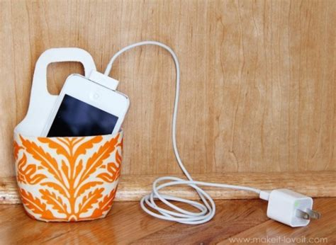 diy phone charging station craft of the day a diy cell phone charging station huffpost