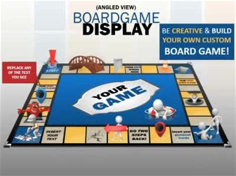 board game display a powerpoint template from