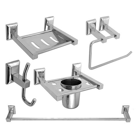 Buy Bathroom Accessories Buy Bath Set Bathroom Accessories Set Steel Aquaria Klaxon