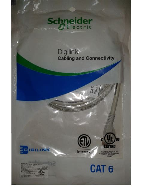 Schneider Electric Digilink Utp Cable Kabel Lan Category 6 1m digilink schneider electric cat6 utp 2 meter moulded patch cord grey at best prices
