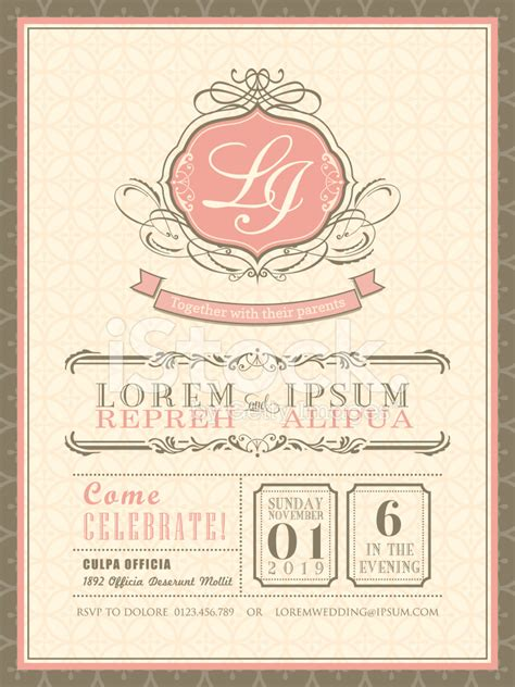 classic wedding card template vintage pastel wedding invitation card background template