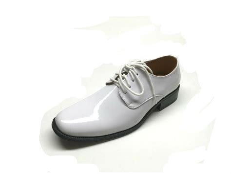 mens tuxedo formal dress shoes patent leather sz 6 5 15 in white ebay