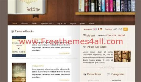 free css templates for books books shop css template free download