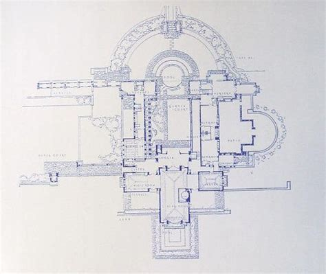 hollyhock house plan hollyhock house frank lloyd wright blueprint frank