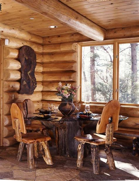 log cabin dining room furniture garden of eden planning a cabin in the woods