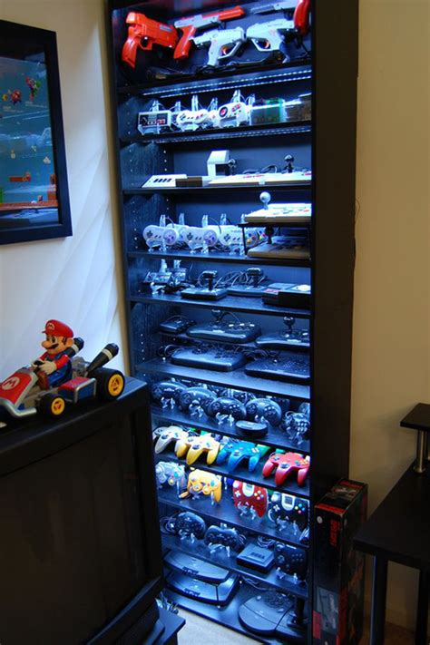 game storage ideas 15 cool methods to video game controller storage