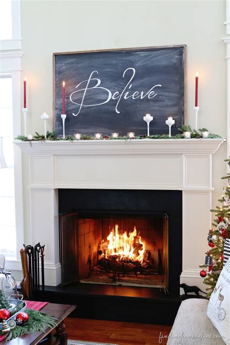 christmas mantel easy chalkboard tutorial finding home