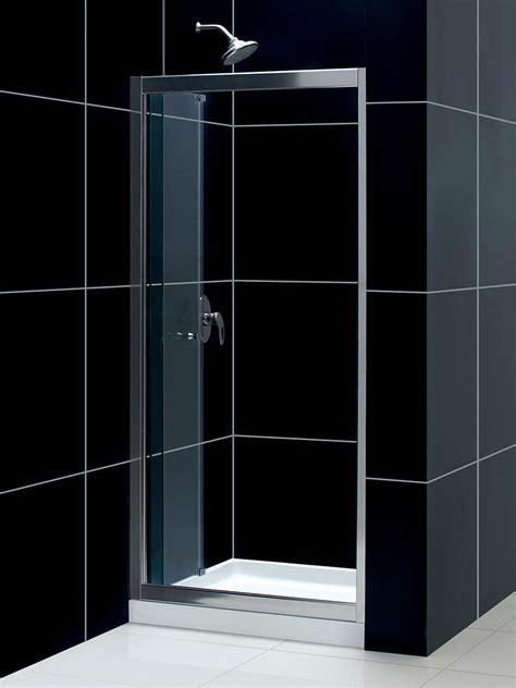 Frameless Shower Door Threshold Dreamline Butterfly Frameless Bi Fold Shower Door 30 Quot By 60 Quot Single Threshold Shower Base