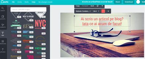 canva header ce faci dupa ce ai scris un articol pe blog romanian