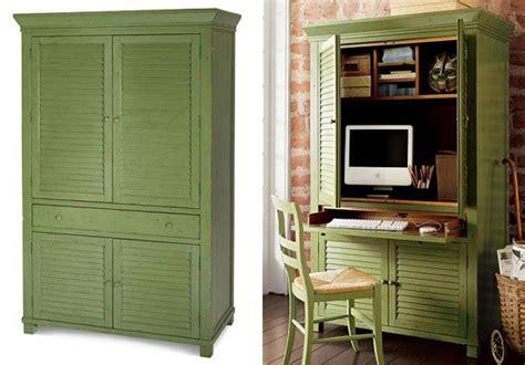 computer armoire ideas  pinterest white desk