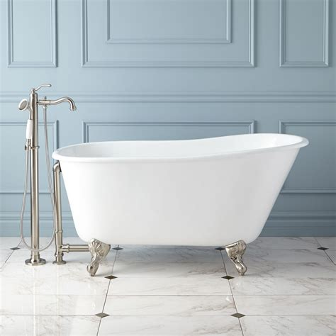 cast iron bathtubs carine cast iron slipper clawfoot tub bathroom