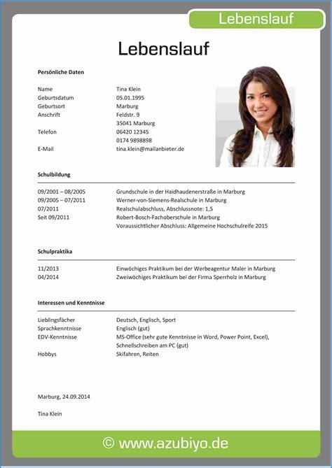 Lebenslauf Englisch Praxissemester 6 Lebenslauf Muster Ausbildung Business Template