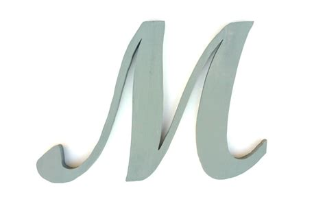 cursive wall letters cursive letter m baby girl names large letter wall decor