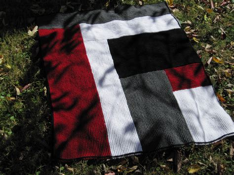 moderne log cabin baby blanket from dixon knitting