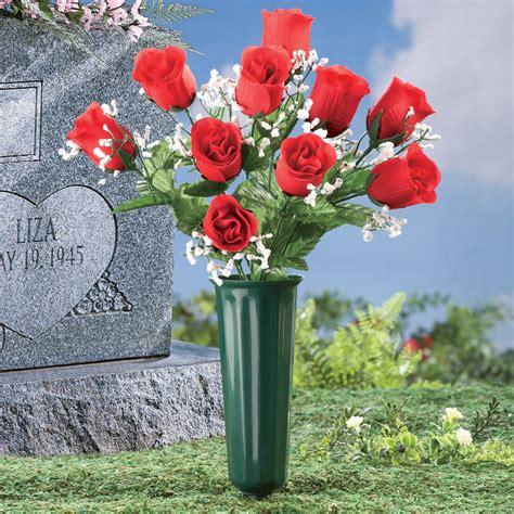 Vase Garden Floral Memorial Vase Garden Stake By Collections Etc
