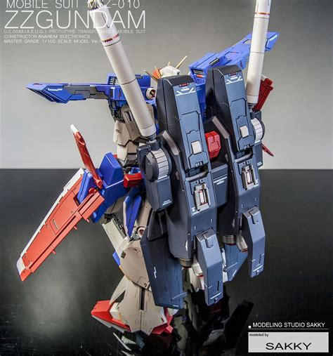 Kaos Gundam Gundam Mobile Suit 48 custom build mg 1 100 zz gundam ver ka detailed
