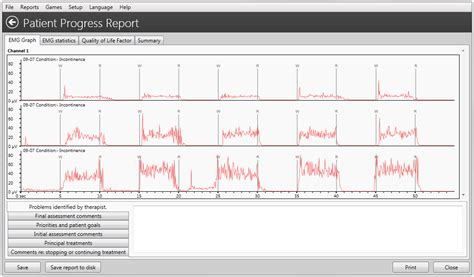 Emg Report Template Neurotrac 174 Pc Software Tens Neuromuscular Electrical