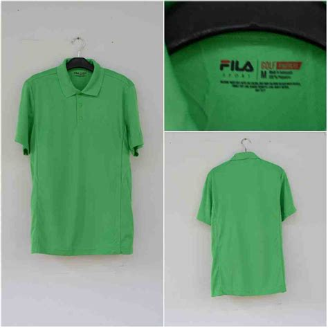 Kaos Polos Henley Lengan Panjang Original Kh49 jual polo shirt baru fila sport golf polo athletic fit green original terbaru murah lengkap