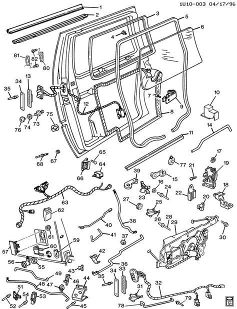 automotive repair manual 1996 chevrolet astro spare parts catalogs interior sliding door handle for 1997 chevy astro van