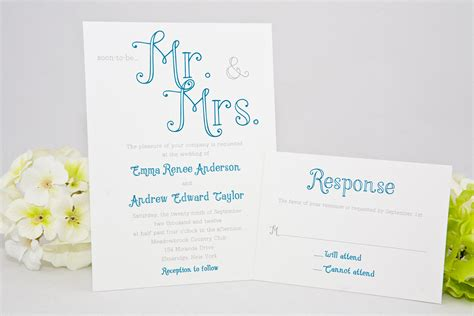 mr mrs wedding invitations pretty calligraphy wedding invitations mr and mrs themed