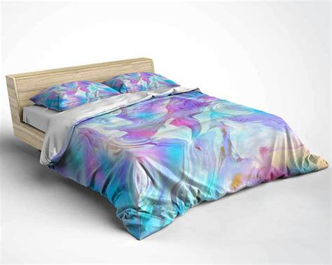 bedding set duvet cover comforter in purple blue and